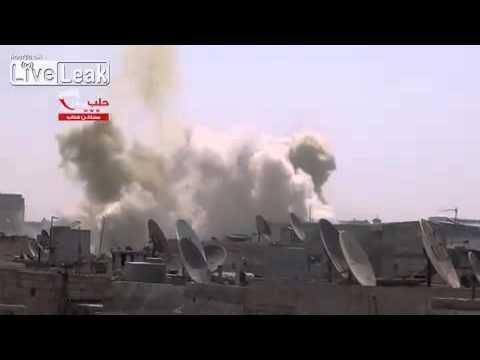 Syria - SAAF barrel bomb attack 28/08 -2 VIDEOS-