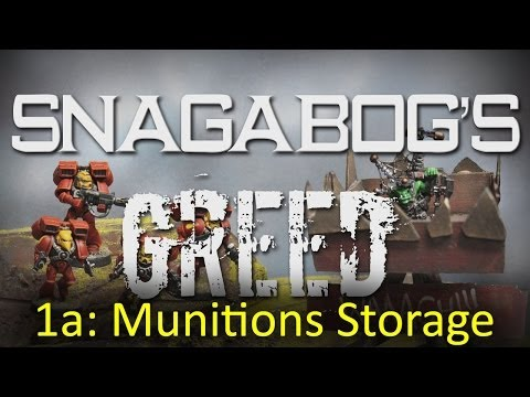 Munitions Storage (Mission 1a) - Snagabog's Greed Ork and Blood Angel 40k Narrative Campaign