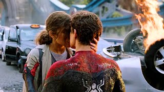 Peter And MJ Kiss Scene | Spider-Man Far From Home Movie Clip 4K
