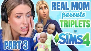 REAL MOM Tries Parenting Challenge in THE SIMS 4 | PART 3