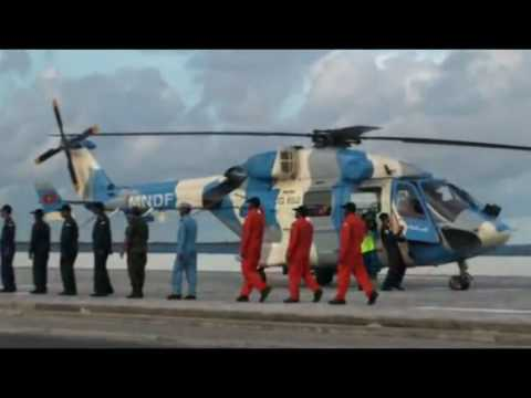 MALDIVES RECEIVES IT'S  DHRUV HELICOPTER , GIVEN BY INDIAN GOVT.