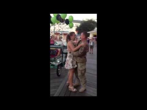 Deployed Dad Surprises Daughter at Disney World Boardwalk