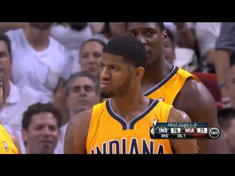Paul George's Ferocious Dunk on Birdman in Game 2!!!
