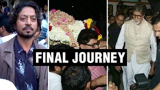 Veteran Actor Om Puri's Final Journey | Bollywood Celebrities Pay Tribute | Om Puri Funeral Video HD