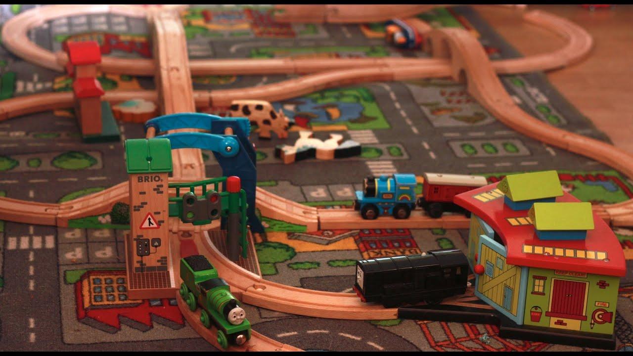 brio train track high speed set  staring diesel  thomas  tank engine youtube