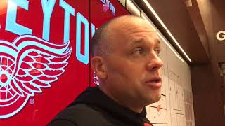 Jeff Blashill on how Red Wings can start better in games