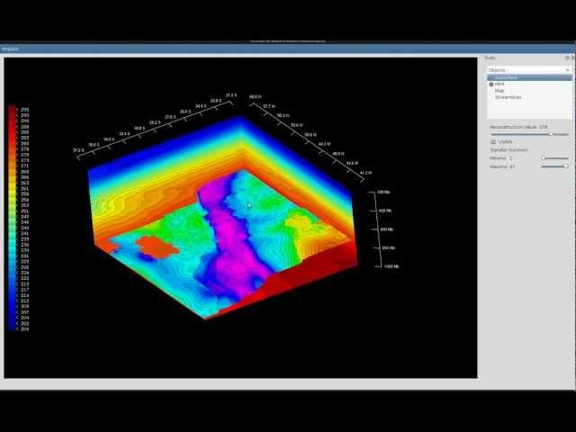 Visualização volumétrica de dados de modelos de previsão