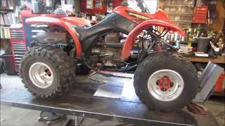 honda atv cracked engine case and carb fix.