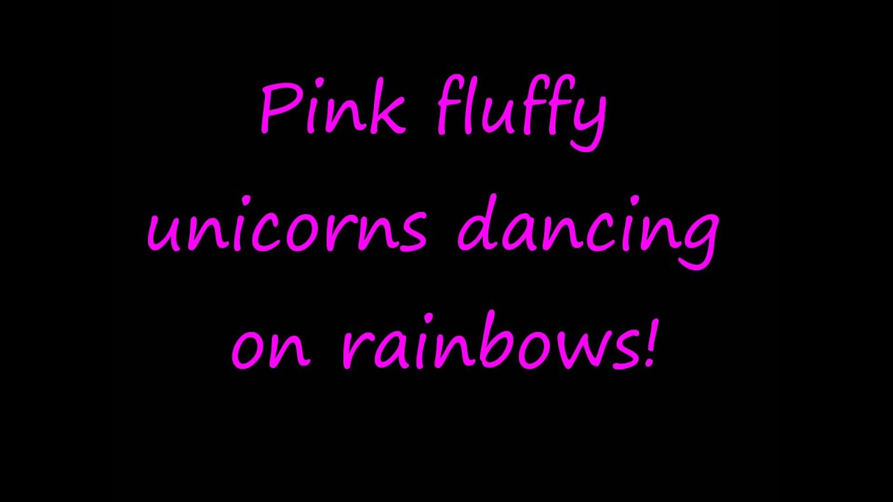Pink Fluffy Unicorns Dancing on Rainbows - Full song with