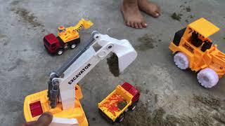 Xe máy múc cát, đồ chơi xe máy xúc cho trẻ em