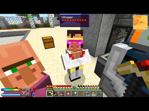 Minecraft - Crash Landing #19: Cranes & Villager Trains