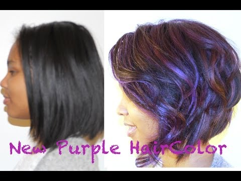 Related To: Purple highlights on dark hair