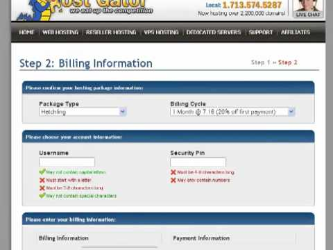 2-cPanel Web Hosting from HostGator