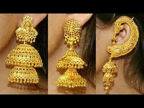 Latest Gold Jhumki Designs Huge Collection