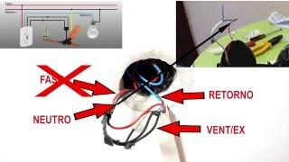 Como fazer a instalação Elétrica do seu Ventilador de Teto Passo a Passo
