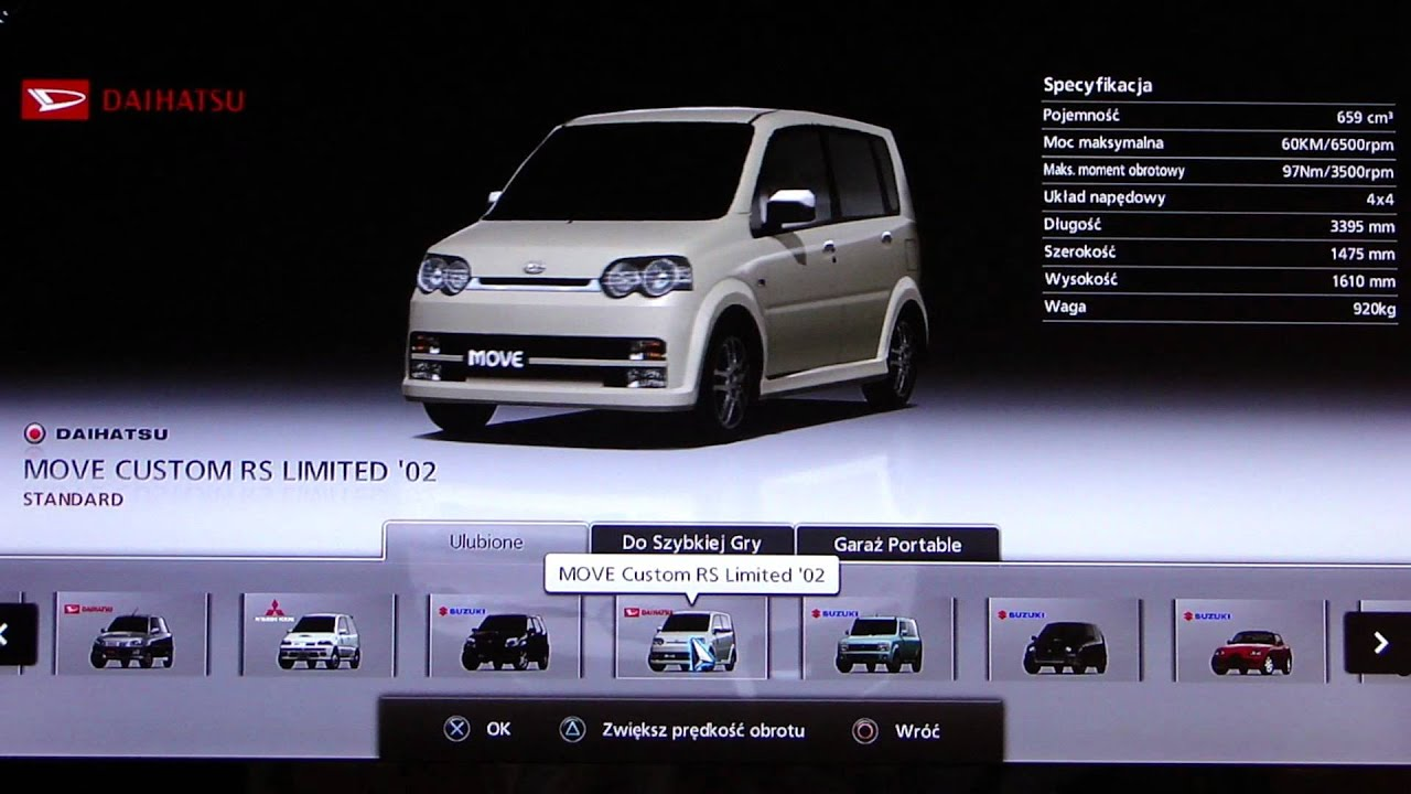 Gran Turismo 5 Kei Car List Youtube
