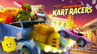 TMNT Cartoon Racing Cars Game Videos for Kids - Nickelodeon Kart Racers #4