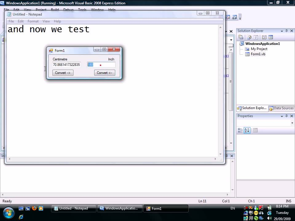 Visual Basic: Inch to Centimetre and Centimetre to Inch Calculator ...
