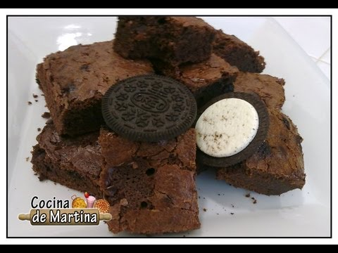 Brownies de chocolate con galletas Oreo | Chocolate Brownies | Recetas de brownies