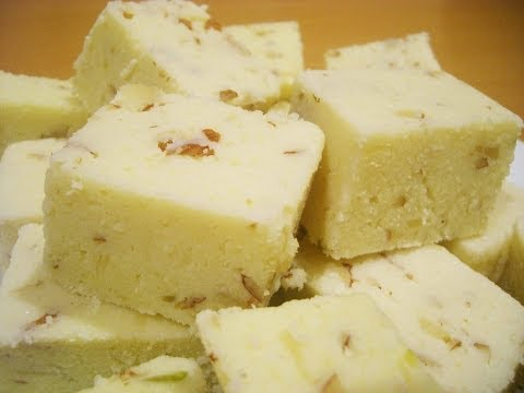 How to cook 5 minute Barfi Mithai Indian Sweets || Raji Osahn...