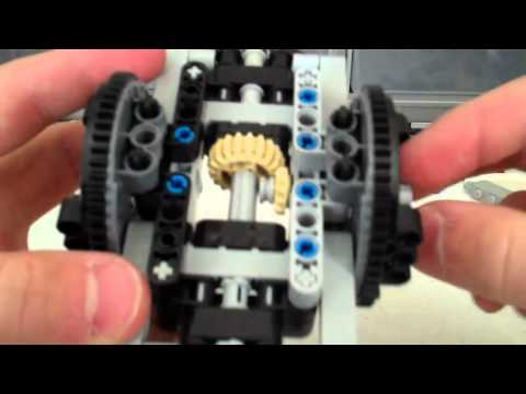 Lego technic trial truck rear suspension axle