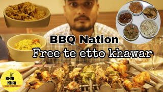 Barbeque Nation Unlimited Buffet | ফ্রীতে খেলাম |  Osadharon khyete | Unlimited food & kebab😋😋