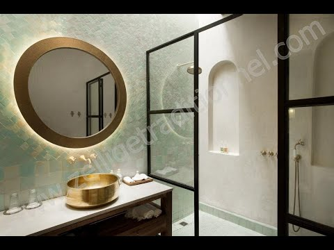 salle de bain spa hammam fontaine piscine en zellige traditionnel marocaine youtube. Black Bedroom Furniture Sets. Home Design Ideas