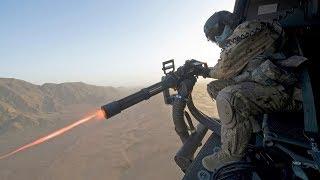 Impressively Powerful M134 Minigun Firing