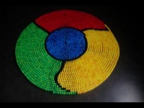 Google Chrome Falls Down (Domino Spiral)
