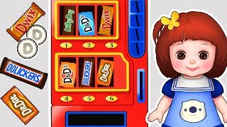 Baby doli Candy Vending Machine play and Baby doll chocolate machine toys