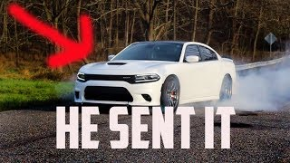 Dodge Charger 392 SLAYS Tires in MASSIVE Burnout!