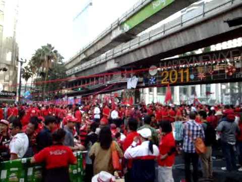Red-Shirts at Ratchaprasong .