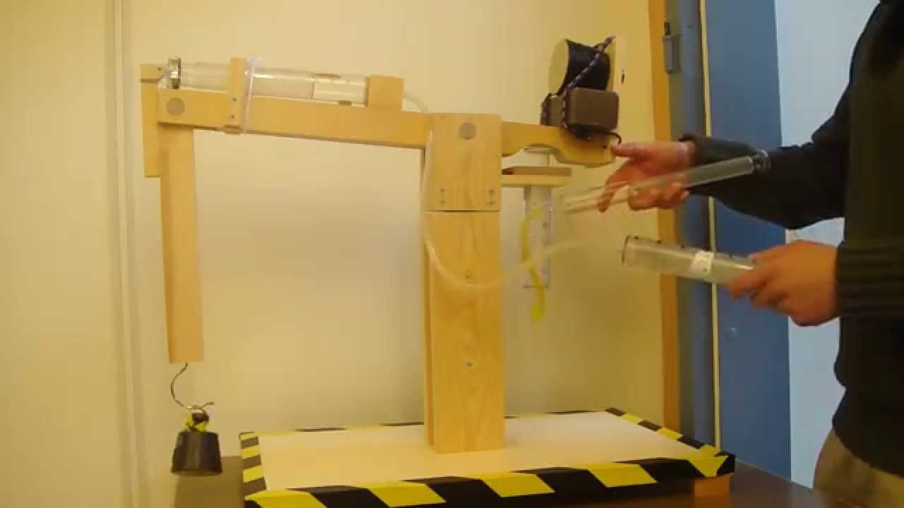 Pneumatic Lifting Crane High School Project Youtube