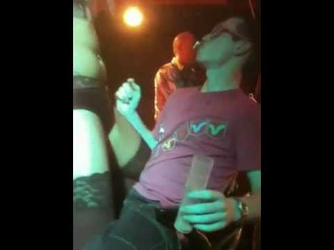 lapdance in the club by a sexy half naked dancer