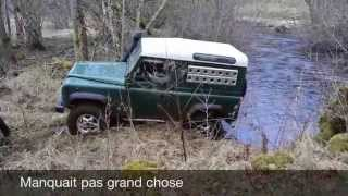 Land Rover Defender in great forest Morvan part1 Mars15