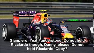 Red Bull team order conversation - Hungarian GP 2015