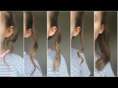 ♡5 different ways to curl your hair using a straightener!♡