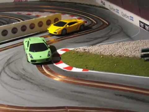 Drifting slot car racing