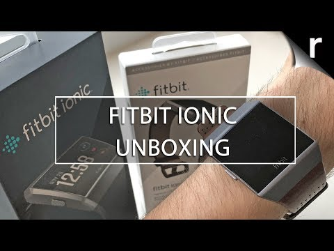 Fitbit Ionic Unboxing (UK): Sporty smartwatch w/leather strap