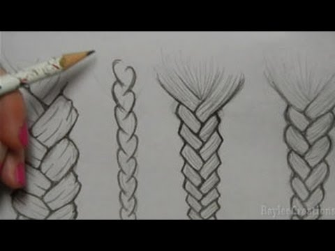 How to Draw Hair Braid Drawing