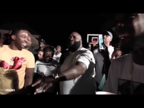 Rick Ross, Dj Khaled, Meek Mill & French Montana Bet $120k On 5 Basketball Shots video