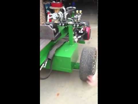 Huge Homemade Wood Splitter with Auto-Cycle Valve and Dump Valve
