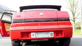 Alfa Romeo SZ Zagato revving! Great exhaust sound!