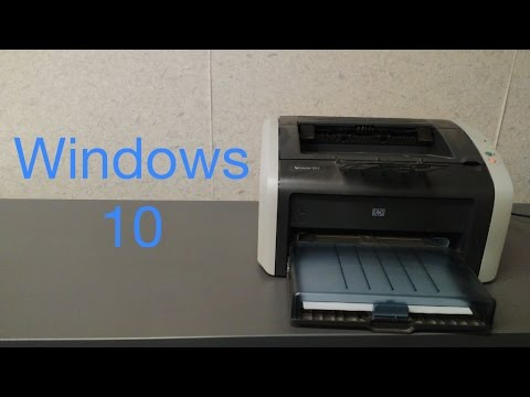 How to Install a HP Laserjet 1012 in Windows 10 (Unsupported Personality PCL mentioned)