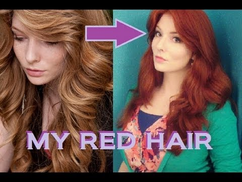 How I Get My Red Hair Color Youtube