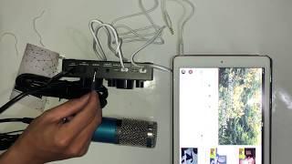 Hướng dẫn lắp đặt combo V8 + Mic BM900 chi tiết