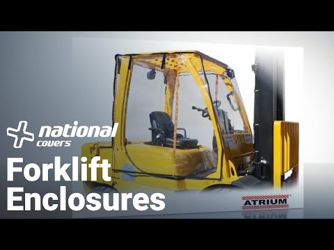Forklift Cover Reviews. Atrium full forklift enclosure review manufactured by Eevelle