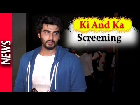 Latest Bollywood News - Amitabh Bachchan At Ki N Ka Screening  - Bollywood Gossip 2016