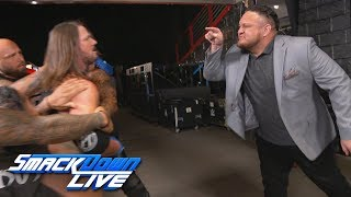 AJ Styles has to be restrained from attacking Samoa Joe: SmackDown Exclusive, Aug. 14, 2018