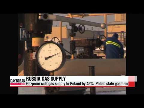 Russia′s Gazprom cuts gas supply to Poland by 45%   러시아, 동유럽에 천연가스 공급 축소